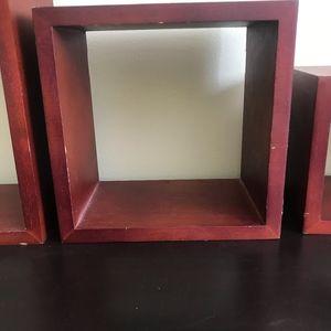 Wall Art - 3-piece wall mounted box shelves